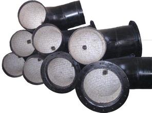 供应耐磨弯管、耐磨弯头、耐磨管道、耐磨管、陶瓷复合管