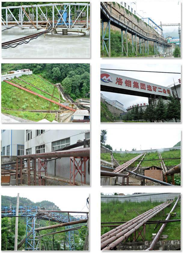 陶瓷复合管工程案例:洛钼集团二公司