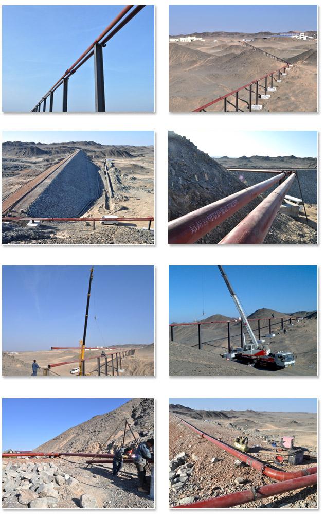 陶瓷复合管道工程案例:新疆哈密黄土坡矿业有限公司新建项目